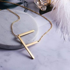 Jewelry - ✨ Gold Woman's Name Initial Necklace •   D…